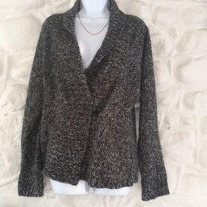 Black and White Cardigan Sweater      Size Medium